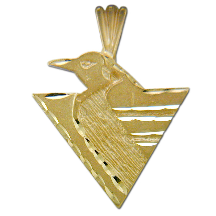 Pittsburgh Penguins Logo 14 kt Gold Large Pendant