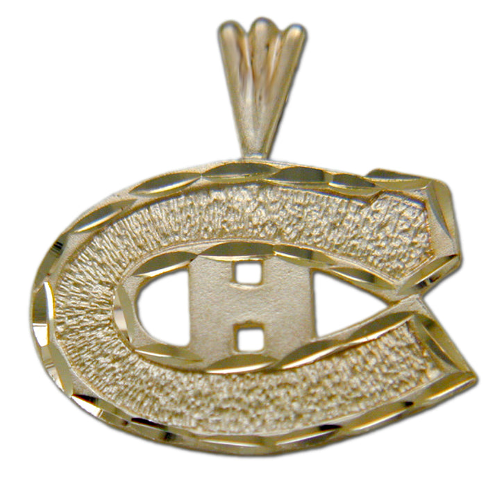 "Montreal Canadiens ""C"" Logo 14 kt Gold Pendant"