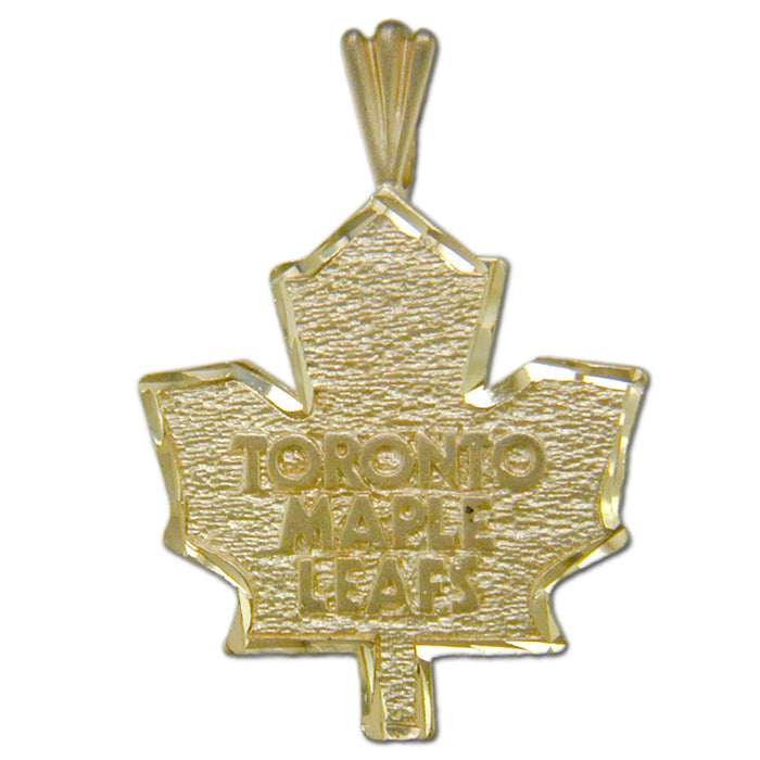 Toronto Maple Leafs Logo 14 kt Gold Large Pendant