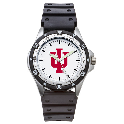 Indiana Univ Option Sport Watch With PU Rubber Strap