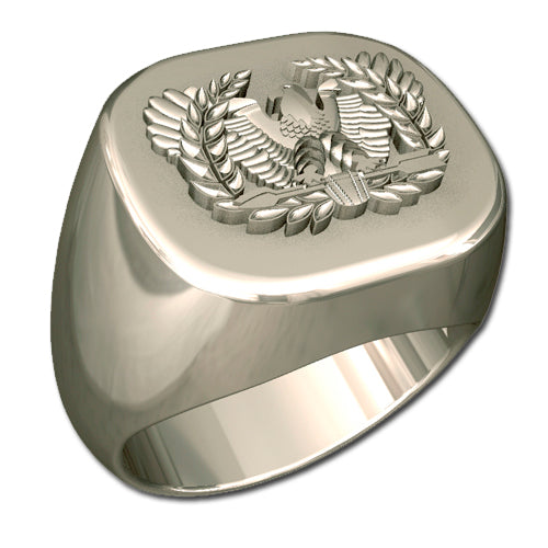 Army Ring - Mens Warrant Officer Badge Ring