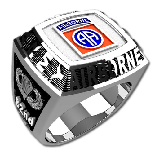 Army Ring - 82nd Airborne Division Championship Style Badge Ring