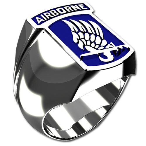 Army Ring - 173rd Airborne Brigade Combat Team Ring with enamel