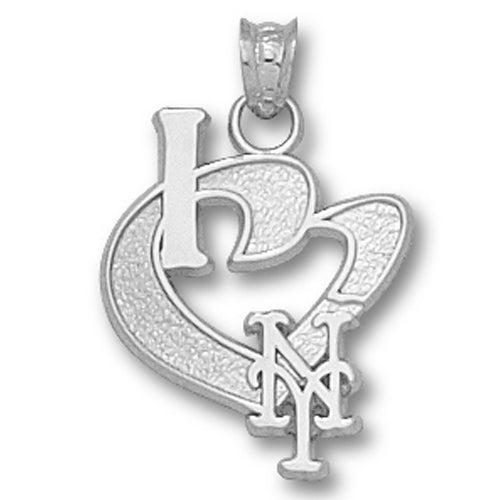 New York Mets I Heart Logo Pendant