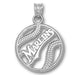 Miami Marlins Pierced Baseball Pendant