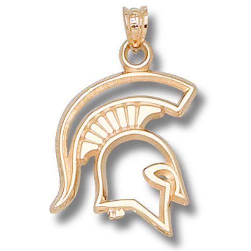 Michigan State University SPARTAN 14 kt Gold Pendant