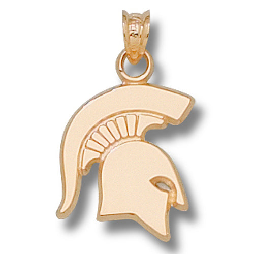 Michigan State University SOLID SPARTAN 14 kt Gold Pendant