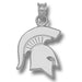 Michigan State University SOLID SPARTAN Silver Pendant