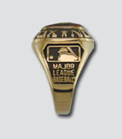 Tampa Bay Rays Classic Goldplated Ring - Side Panels