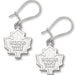 Toronto Maple Leafs Logo Earrings