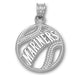 Seattle Mariners Pierced Baseball Silver Pendant