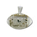 Middle Tennessee State University MT Football Silver Pendant