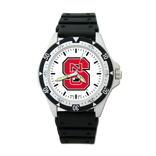 North Carolina State S Option Sport Watch With PU Rubber Strap