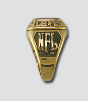 Philadelphia Eagles Large Classic Goldplated Ring - Side Panels