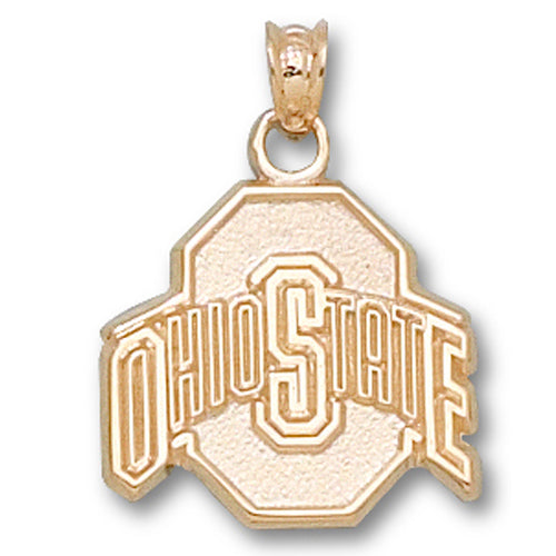 Ohio State University ATHLETIC O 14 kt Gold Medium Pendant