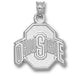 Ohio State University ATHLETIC O Silver Medium Pendant