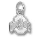 Ohio State University ATHLETIC O Silver Snall Pendant