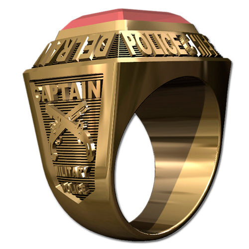 Mens Championship Style Police Ring -  Type I