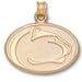 Penn State University LION HEAD 10 kt Gold Pendant