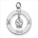 Sterling Silver Personalizable Baseball Star Charm