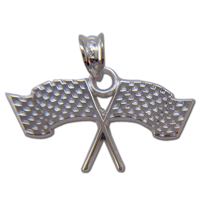 Racing Flags Sterling Silver Pendant