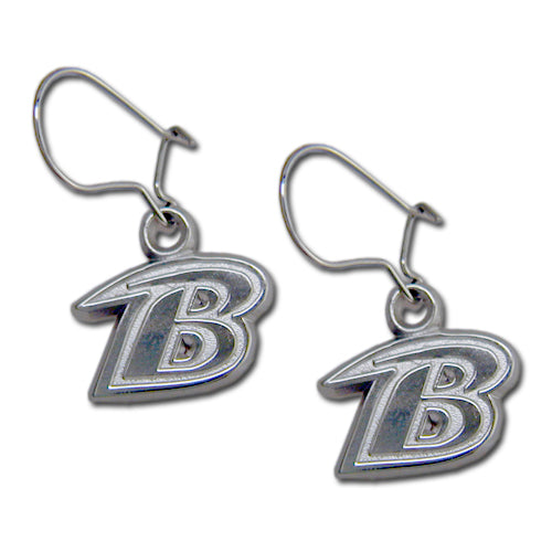 Baltimore Ravens B Logo Earrings