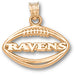 Baltimore Ravens Pierced Football