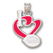 Cincinnati Reds I Heart Logo with enameled Pendant