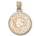 Boston Red Sox Round Logo 14 kt Gold Pendant
