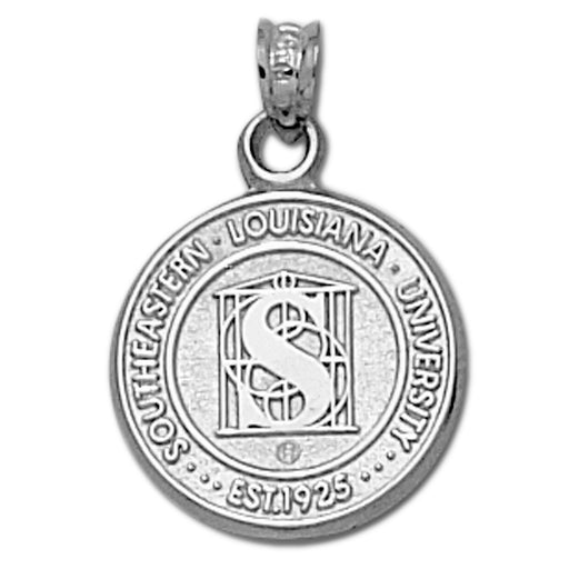 Southeastern Louisiana University Seal Silver Pendant