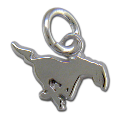 Southern Methodist Univ MUSTANG Silver Small Pendant