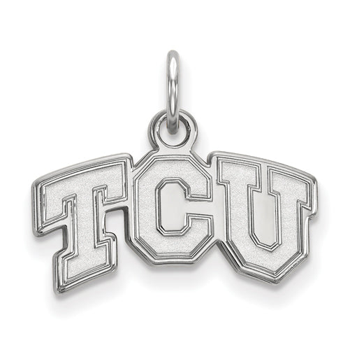 Sterling Silver LogoArt Texas Christian University XS Pendant