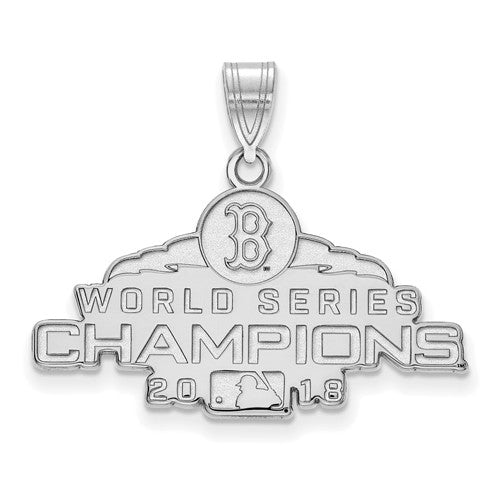 SS 2018 World Series Champions Boston Red Sox Medium Pendant