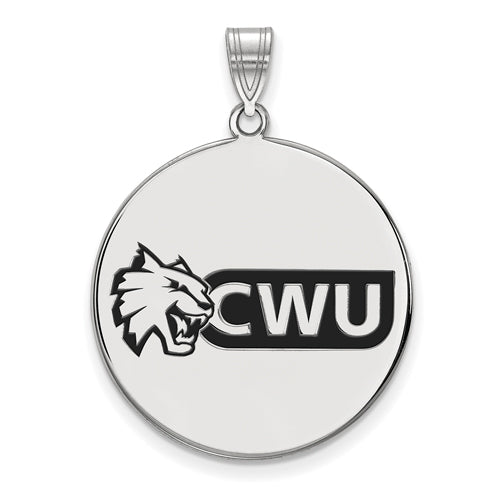 SS Central Washington University XL Enamel Disc Pendant
