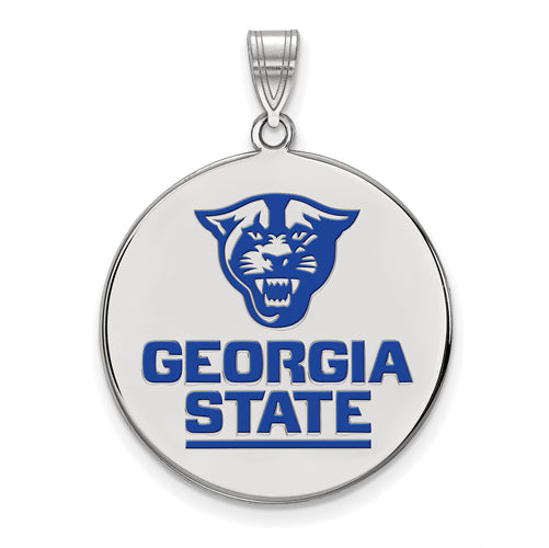 SS Georgia State University XL Enamel Disc Pendant