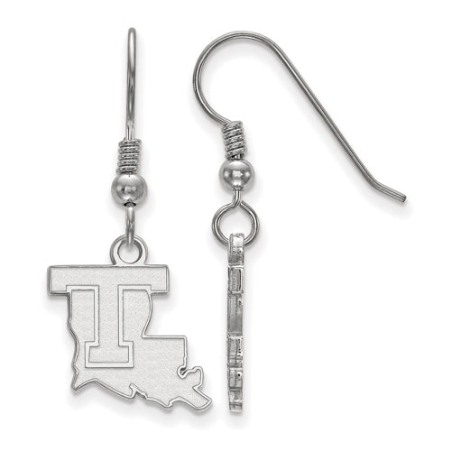 SS Louisiana Tech University Small Dangle Earrings