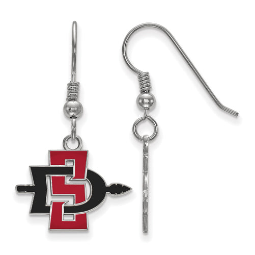 SS San Diego State University Small Dangle Earrings