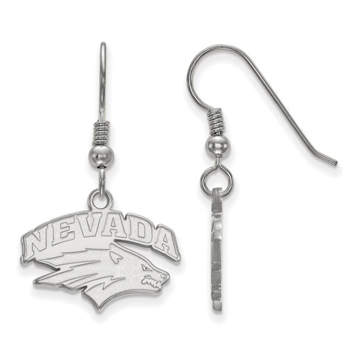 SS University of Nevada Small Dangle Wolf Pack Earrings