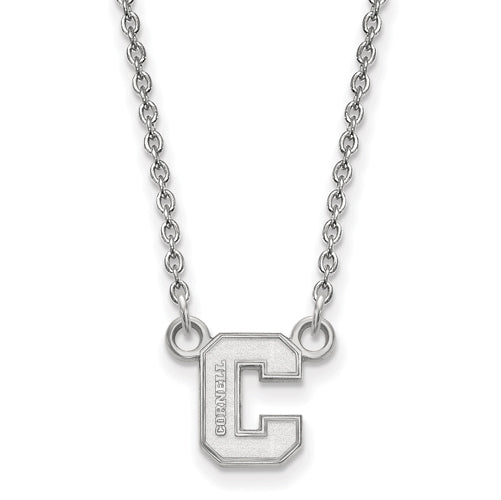 SS Cornell University Small C Pendant w/ Necklace