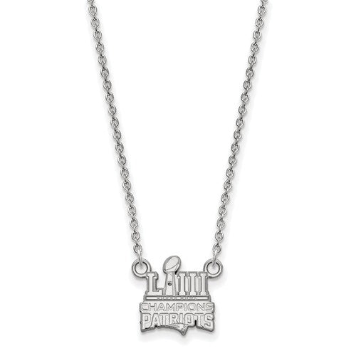 SS New England Patriots Super Bowl LIII Champions Small Necklace