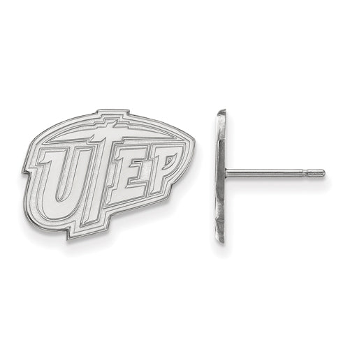 SS The University of Texas at El Paso Small UTEP Post Earrings