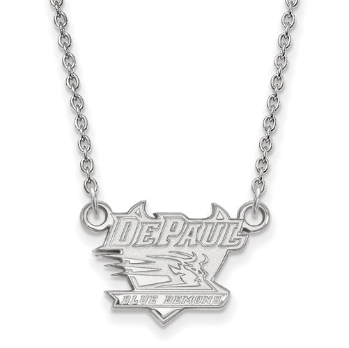 SS DePaul University Small Pendant w/Necklace