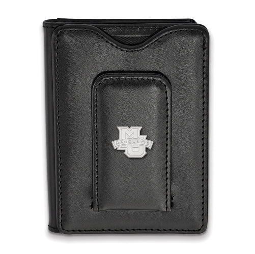 SS Marquette University Black Leather Wallet