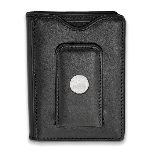 SS Saint Joseph's Univ Black Leather Money Clip Wallet