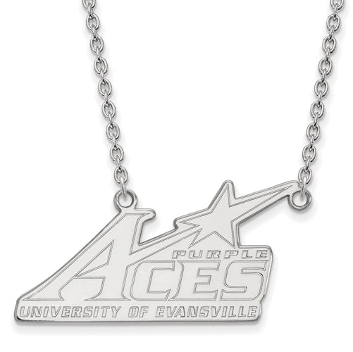 10kw University of Evansville Large Pendant w/Necklace
