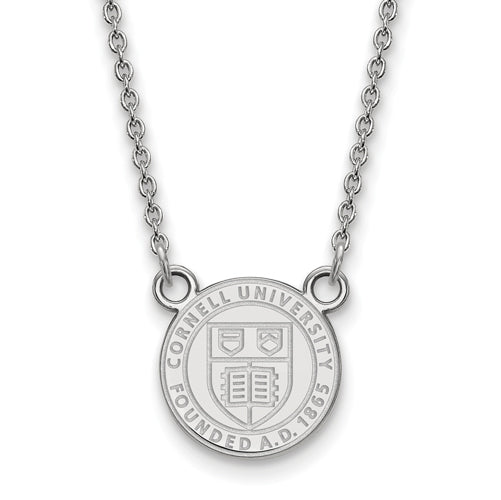 SS Cornell University Small Crest Pendant w/ Necklace