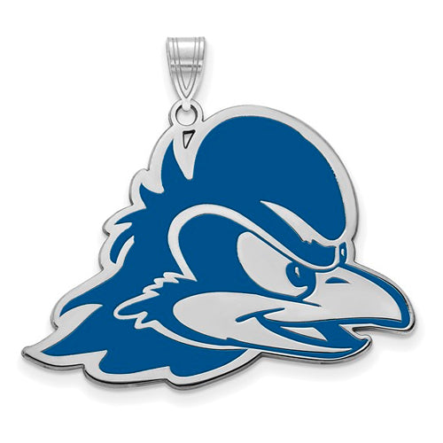 Sterling Silver LogoArt University of Delaware XL Enamel Pendant