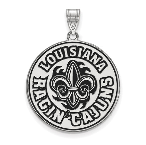 SS University of Louisiana at Lafayette XL Enamel Pendant
