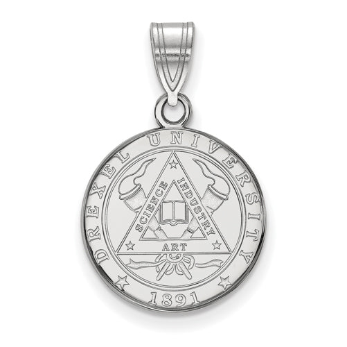 SS Drexel University Medium Crest Pendant