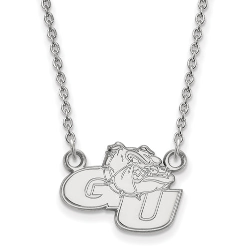 SS Gonzaga University Small Pendant w/Necklace